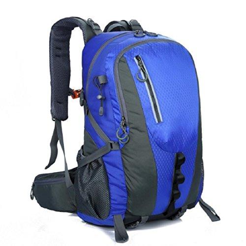 Z&N Backpack Capacidad 40L Ocio Al Aire Libre Se Divierte El Morral Del Alpinismo Bolso Ordenador PortáTil Bolso Escuela Paquete Acampa Partido Comida Campestre Multiusos Uso Diario A 40L C