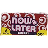 Now and Later Cherry Flavored Candy Twenty Four 6-piece Bars