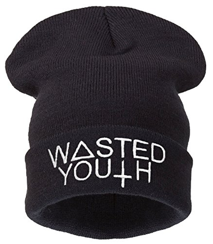 Negro universal o Youth Black Beanie Wasted Tama Men 4sold pqB8R7
