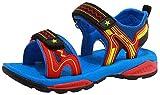 VECJUNIA Boy's Girl's Outdoor Sandals Open-Toe Low Top One-Strap Non-Slip Summer Beach Running Shoes (Blue, 13 M US Little Kid)