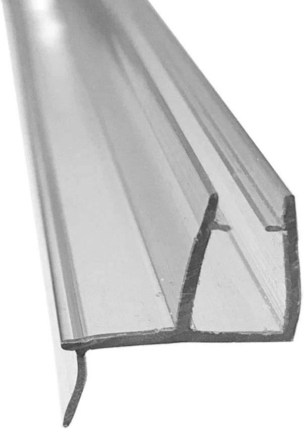 """Clear Shower Door Bottom Sweep with Drip Rail for 3//16/"""" Glass 35 in long"""