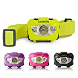 CREE LED Head Lamp - Best Headlight Running Lights for Joggers Runners, Night Gear Hiking Camping, Headband Reading Lamps Kids, Outback River Kayak - Compact Powerful Storm Water Resistant Headlamps