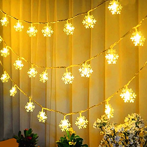 2 5M White Led Snowflake Curtain Light