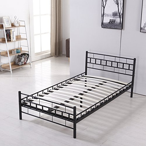 Walcut Fodable Set-up Steel Bed Frame/Platform Bed Bedroom Furniture by WALCUT