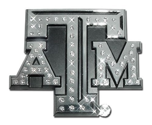 Texas A&M University Aggies Austrian Crystals & Chrome NCAA College Sports Premium Metal Car Truck Motorcycle Emblem by Elektroplate