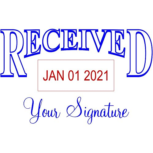 Signature Date Stamp - RECEIVED With Your Signature Bottom Dater Stamp