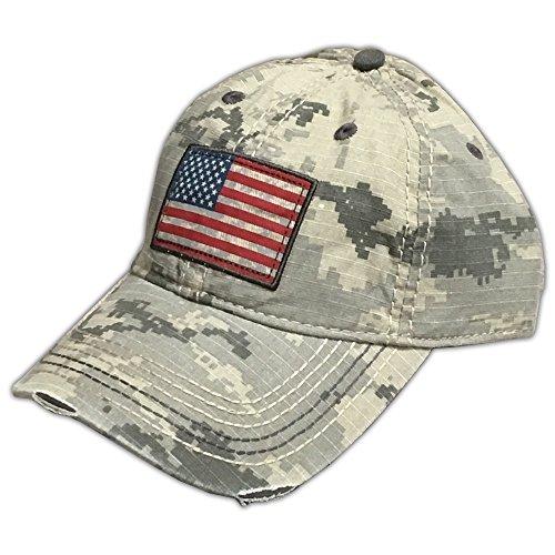 Farm Boy Digital Camo with American Flag Patch Velcro Hat -