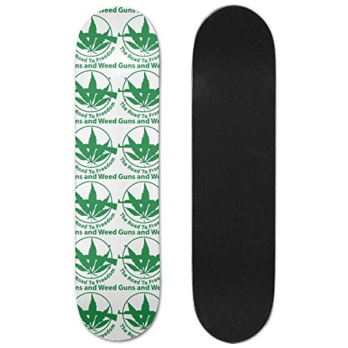 Guns And Weed The Road To Freedom Vogue Double Warped Skateboard Deluxe Longboard Skate Boards by ZCXN