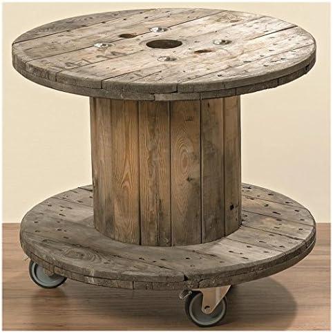 Tavolino Stile Industriale Bobina Di Cavo Amazon It Casa E Cucina
