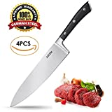 : Aicok Chef Knife, Chef's Knife 8 inches, Professional Chef Knife, Kitchen Knife Set, German High Carbon Stainless Steel, 5-inch Utility Knife, 3.5-inch Paring Knife and Peeler