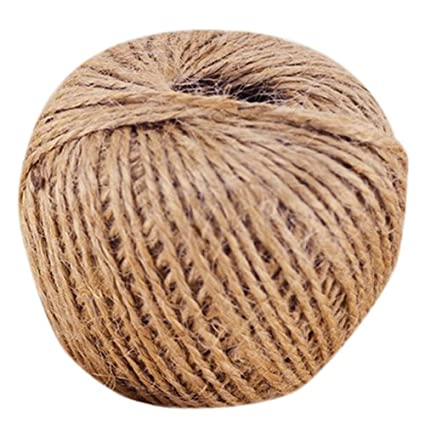 10m Metre Natural Brown Shabby Style Rustic Twine String Shank Craft Jute!!