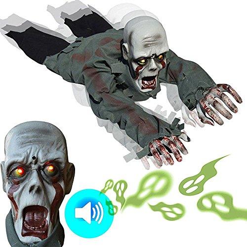 ウンチョン プラモデル 模型 ハロウィン ゾンビ 怖い 鬼 幽霊 妖怪 飾り 這う 感応 発光 振動