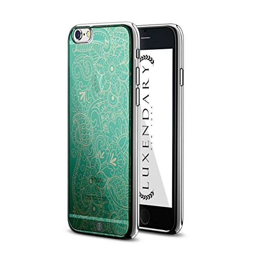 Luxendary LUX-I6CRM-PAISLEY6, Chrome Series Case for iPhone 6/6S Design - Green Paisley Design