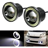 Autotrends High Power Projector LED Angel Eye Fog Light (10W, 2 Bulbs)