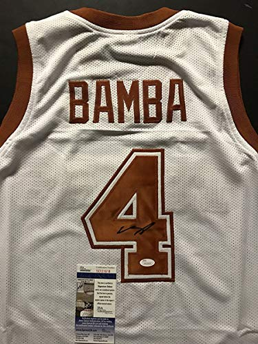 (Autographed/Signed Mohamed Mo Bamba Texas Longhorns White College Basketball Jersey JSA COA)