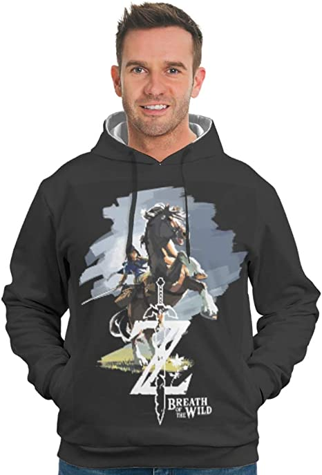 Kupen-Hoodie Zelda Design - Camisa con Capucha y Bolsillo para Hombre, Multicolor: Amazon.es: Deportes y aire libre