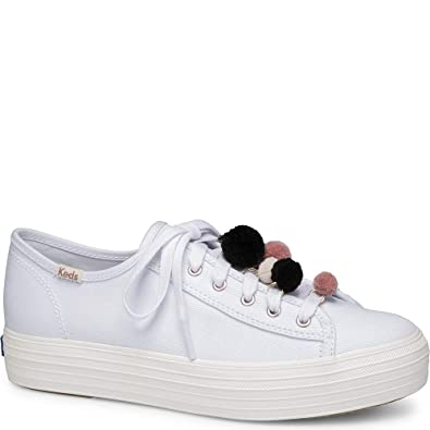 1bf64b460f902 Keds Triple Kick Pom Pom Women 5 White