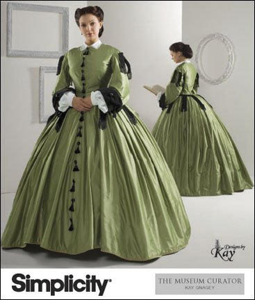 Civil War Dress Gown (Simplicity 2887 Sew Pattern MISSES CIVIL WAR DRESS / GOWN COSTUME Plus Size)