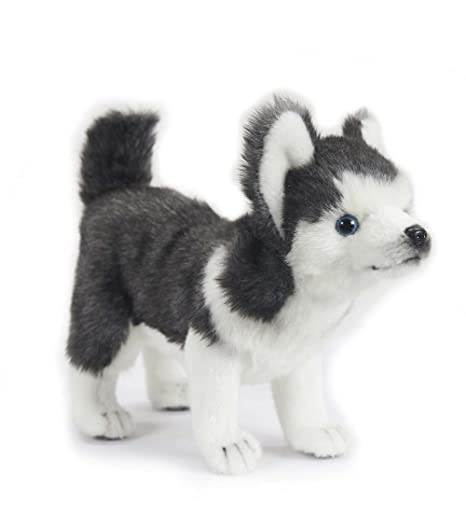 Amazon Com Hansa Toys Usa Husky Puppy Plush Toys Games