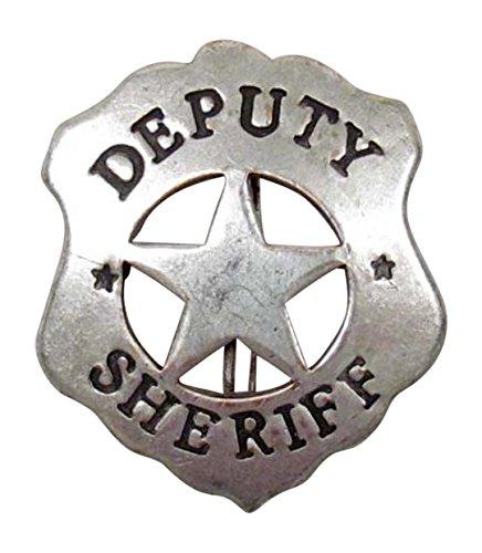 Costume Badge Ornate Brass DeputySheriff Old West (Costumes Badge)