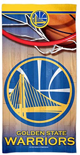 McArthur Golden State Warriors Beach Towel, Nothing But Net Edition with Premium Spectra Graphics, 30 X 60 Inches (Warriors Pool Golden State)
