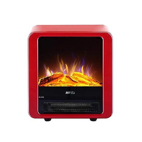 CJC Termoventiladores y calefactores cerámicos Estufa Fuego Lugar Hogar 1800W 900W Portátil De Pie Llama Casa