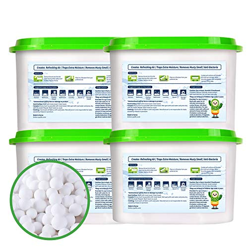 SUNNY HOME Moisture Absorber for Home. Odor Eliminator, Dehumidifier, and Deodorizer for Closet, Bathroom, Kitchen and More [4 PK / 9.2 Fl ()