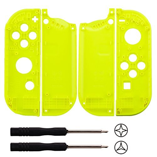 YoRHa plastic replacement repair kit theme case shell for nintendo switch Joy-Con controller (yellow) With Screwdriver For Sale