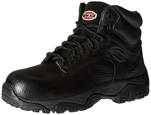 Iron Age Women's IA507 Trencher Fire and Safety Shoe, Black, 6 W US by Iron Age