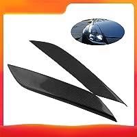 Docooler Carbon Fiber Headlight Eye Lid Covers Car Front Trim Decoration for 2003-2008 350Z Fairlady Z Z33