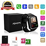 Bluetooth Smart Watch Touchscreen with Camera,Unlocked Watch Cell Phone with Sim Card Slot,Smart Wrist Watch,Waterproof Smartwatch Phone for Android Samsung IOS Iphone 7 Plus 6 6S Men Women Kids Girls