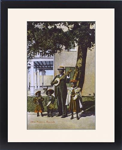 Framed Print of Blind Musician, Bermuda