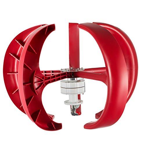 Happybuy Wind Turbine 400W 12V Wind Turbine Generator Red Lantern Vertical Wind Generator 5 Leaves Wind Turbine Kit with Controller No Pole by Happybuy (Image #2)