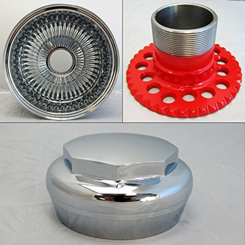 DONGFANG 14x7 Rev 100 Spoke Reverse Wire Wheels Straight Lace Chrome wheel Rims 1pcs