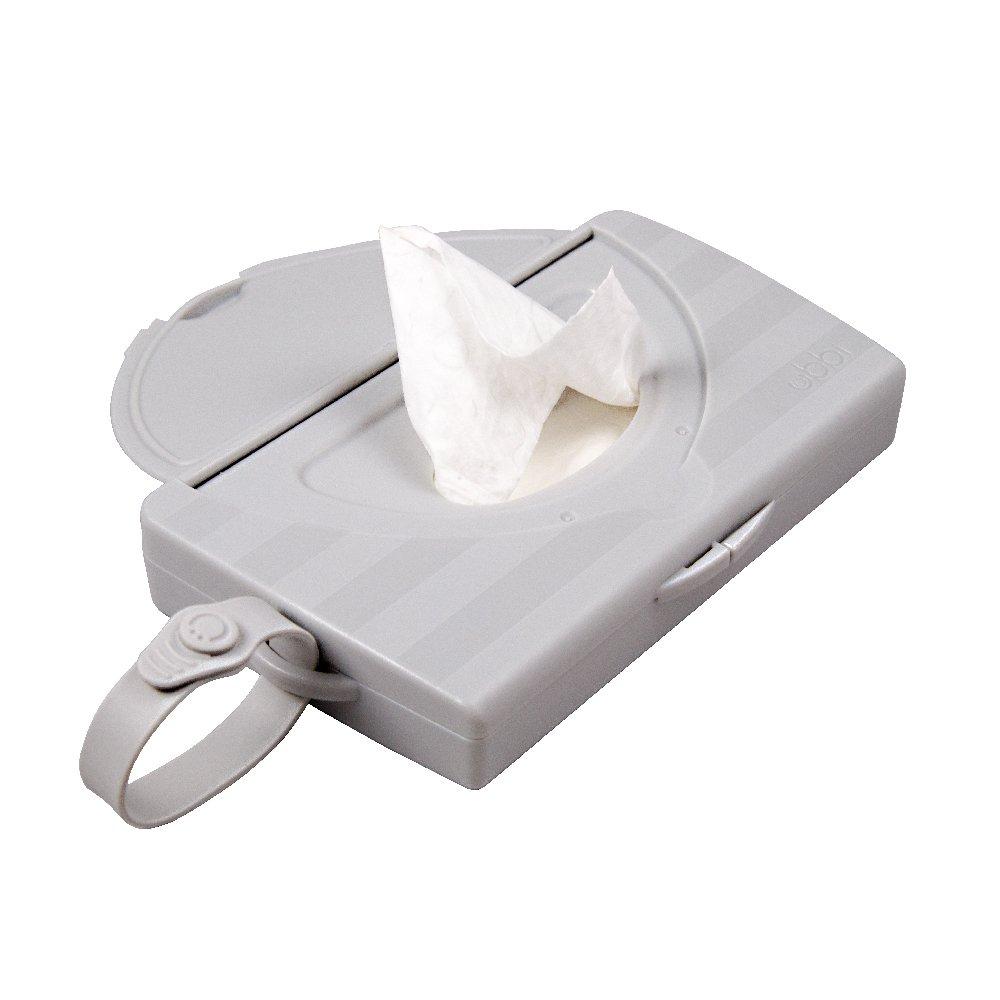 Dispensador de toallitas Ubbi On The Go color gris