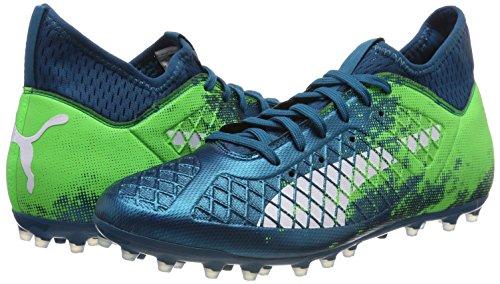 Puma Chaussures vert 3 Mg Future De Football Lagoon Deep Hommes Blanc Pour puma 18 Gecko aqESwrq