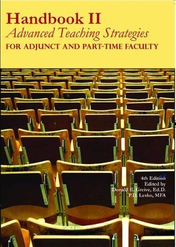 Download Handbook Two: Advanced Teaching Strategies for Adjunct and Part-Time Faculty, 4th Edition pdf epub