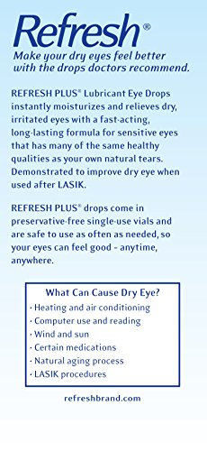Refresh Plus Lubricant Eye Drops, Value Size, 70-0.01 Fluid Ounce (0.4 ml) Containers