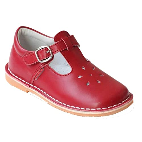 b43f33e79b607 L'Amour T-Strap Red Leather Shoes