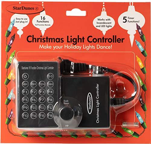 StarDunes Christmas Light Controller, 16 Flash/Fade Functions, 5 Timer Functions (Equipment Show Light Christmas)