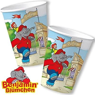 8 vasos * Benjamin Blümchen * para Fiesta de cumpleaños y ...