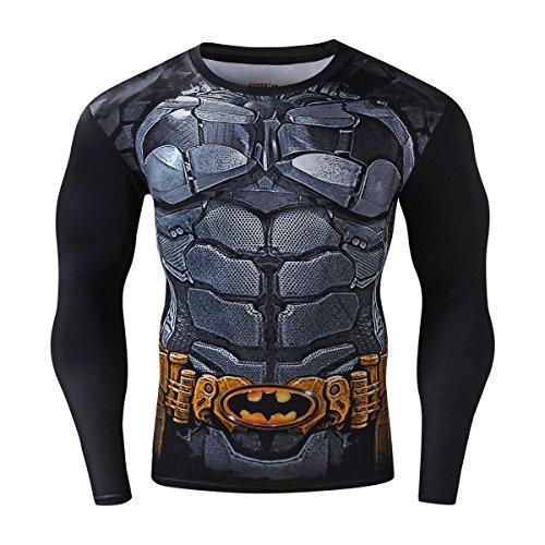 Cody Lundin Homme Compression Manches Longues t - shirt Horde et Alliance Mouvement Fitness Sport Chemise