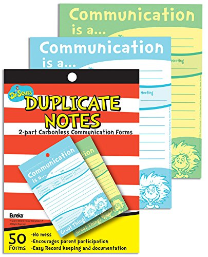 Eureka Dr. Seuss Communication Duplicate Notes Large (863204)