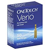 One Touch Verio Test Strips, 50 Count