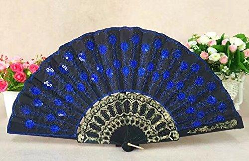 ricisung modelado de pavo real polo negro Lentejuelas bordado ...