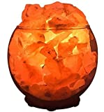 Himalayan CrystalLitez, Sphere Bowl, Himalayan Salt Lamp With Dimmer Switch,Aromatherapy Salt Lamp in A Gift Box,UPGRADED(Sphere Medium)