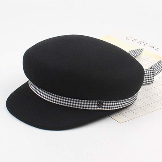 Sombrero Elegante Vintage Sombrero Gorro a Cuadros Femenino ...