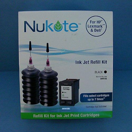 Nukote WM196 Ink Jet Refill Kit - Black (Ink Cartridge 26 51626a Black)