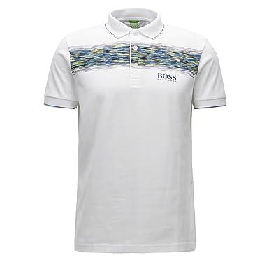 6e05d7b94 Amazon.com  Hugo Boss Mens Paddy Pro 4 Polo Shirt White Pattern ...