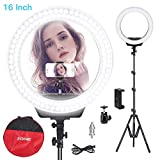 ZOMEI Ring Light Kit,16 inch Ring Light with Stand,LED Dimmable 50W Adjustable 3200-5500K Carrying Bag for Camera Smartphone, You Tube,Self-Portrait Shooting Good for Beauty Facial Make Up Live Stream